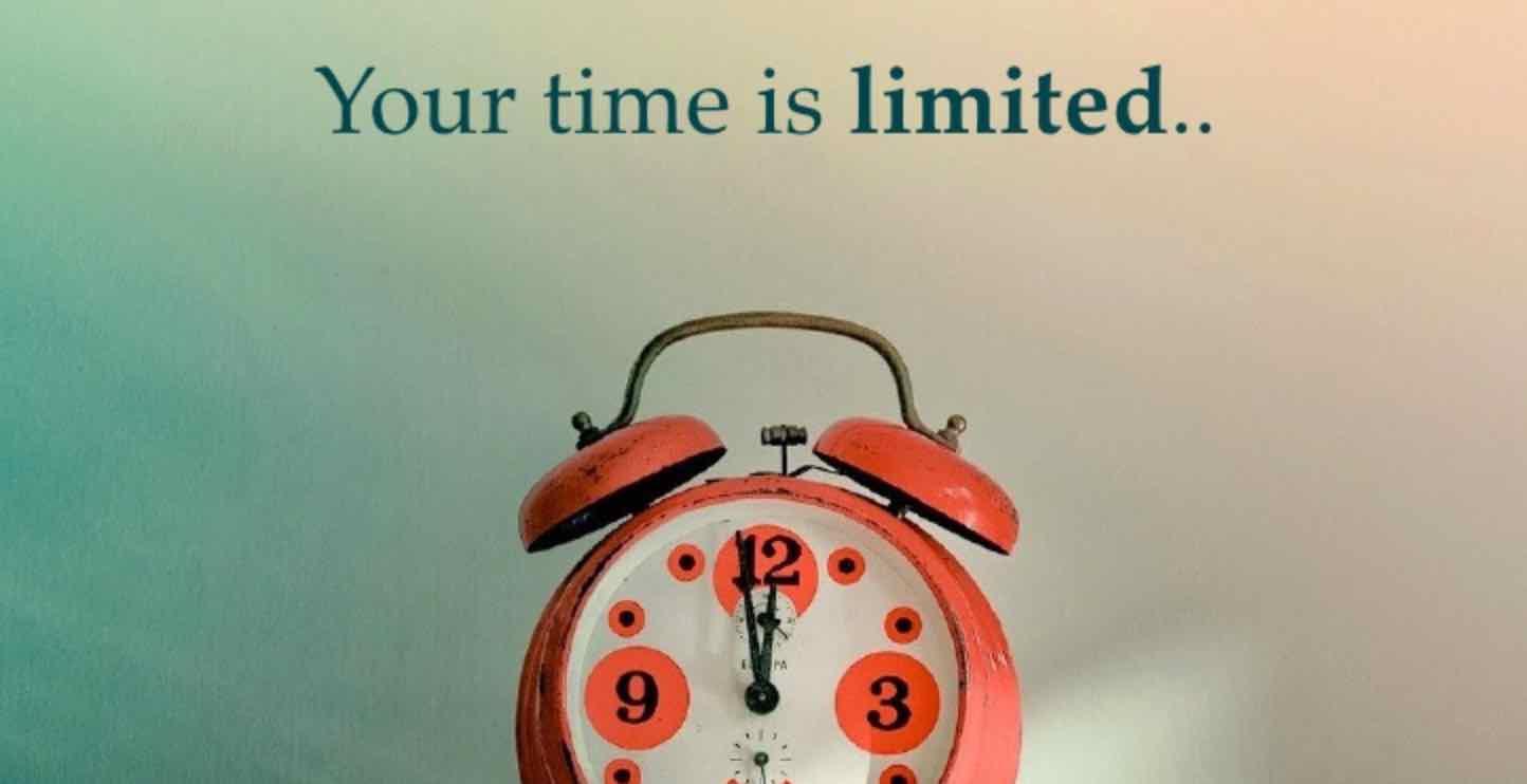 Jangan Habiskan Terlalu Banyak Waktu