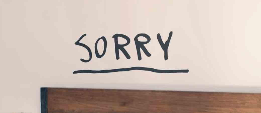 Mengurangi Meminta Maaf