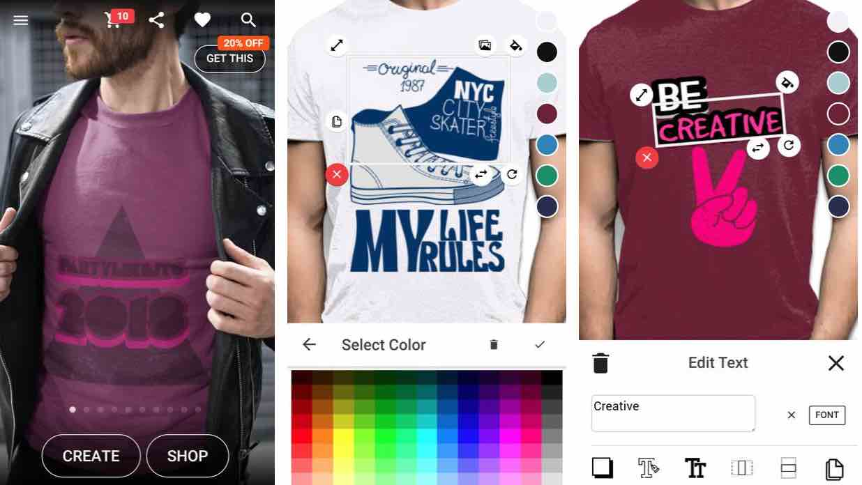 T-shirt design – Yayprint