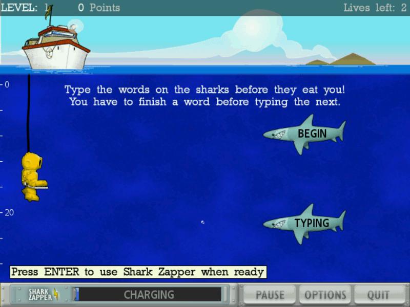 Typer Shark Duluxe Game