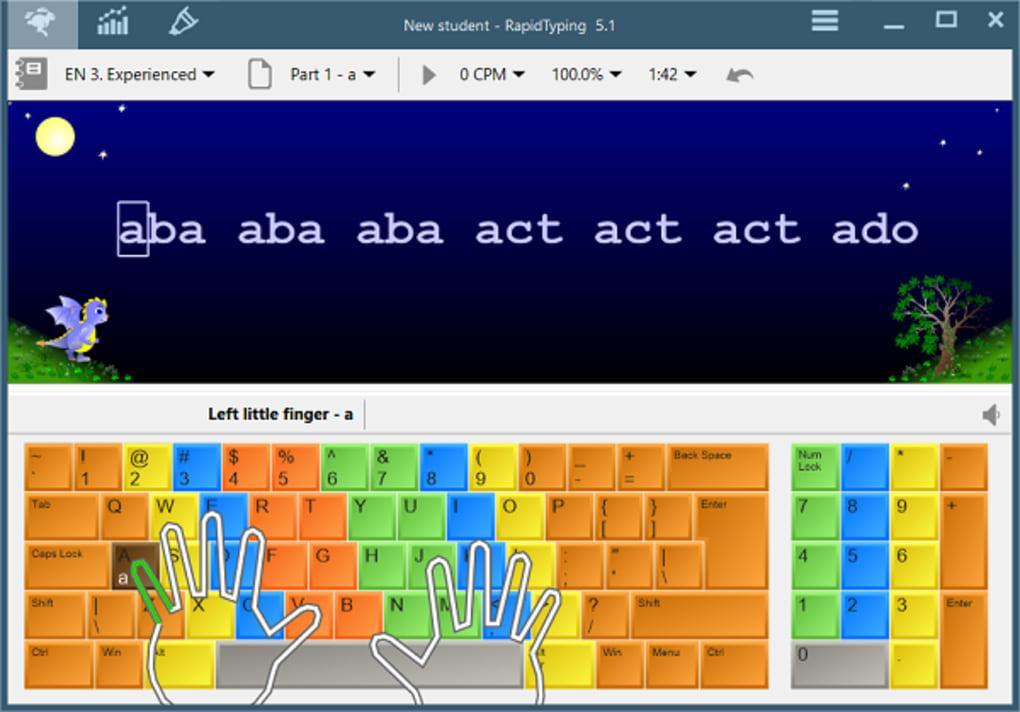 Rapid Typing Game mengetik 10 jari