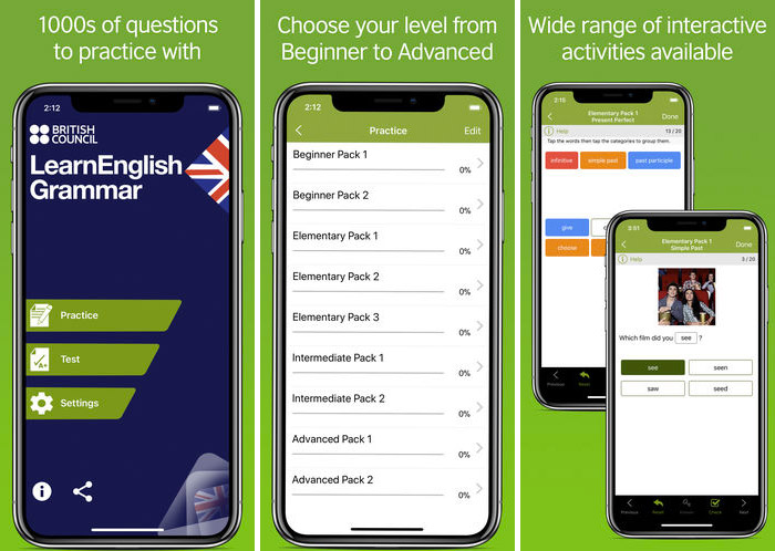 English Learning App Learn English Grammar Quickly