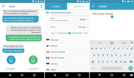 SayHi App, Aplikasi Terjemahan