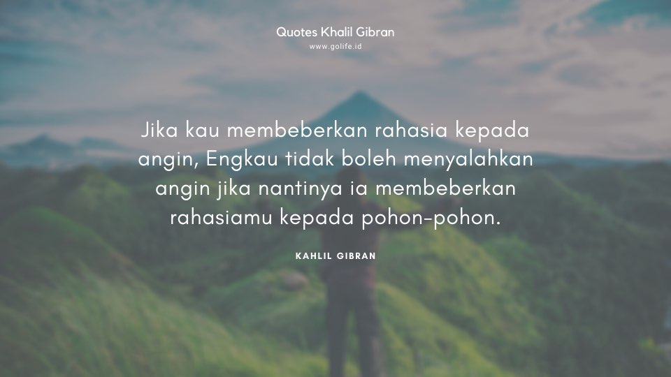 Quote Kahlil Gibran Tentang Angin