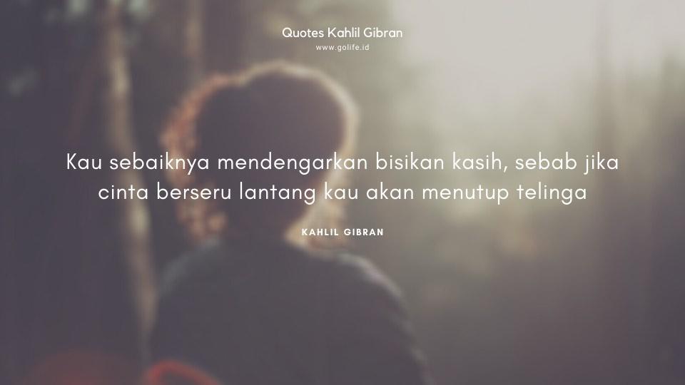 Quote Kahlil Gibran Tentang Mencintai