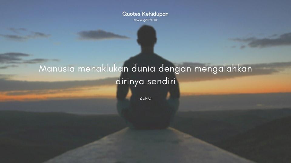 Quote Zeno Tentang Mengalahkan Diri Sendiri